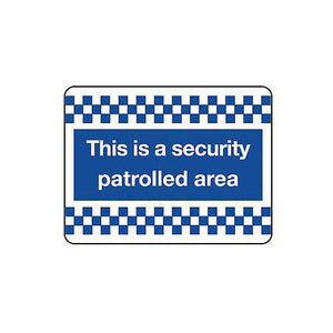 Aluminium Security & Cctv Sign This Is A Security Patrolled Area