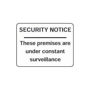 Rigid PVC Plastic Security & Cctv Sign Security Notice These Premises Are Under Constant Surveillance