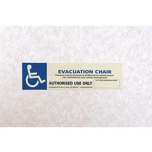 Luminescent Sign Evacuation Chair