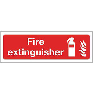 PVC Fire Fighting Equipment Sign Fire Extinguisher