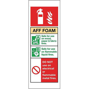 PVC Fire Extinguisher Sign Aff Foam