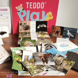 Teddo PLay Learning Cards - Birds of Prey, Wild Animals, Farm Animals & Insects (spelling edition)