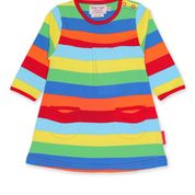 Toby Tiger Organic Multi Stripe Dress - Long sleeved