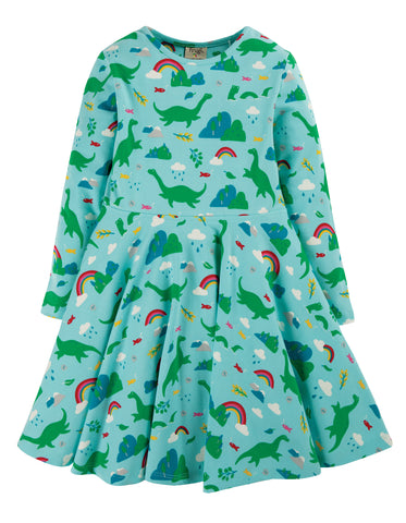 Frugi Sophia Skater Dress Shore Blue Nessie