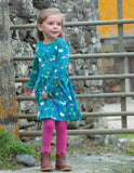 Frugi Sophia Skater Dress Farmyard.