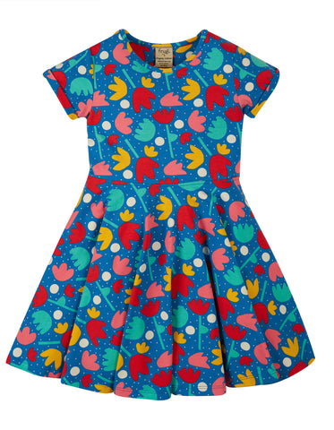 Frugi Sophia Skater Dress Lotus Bloom