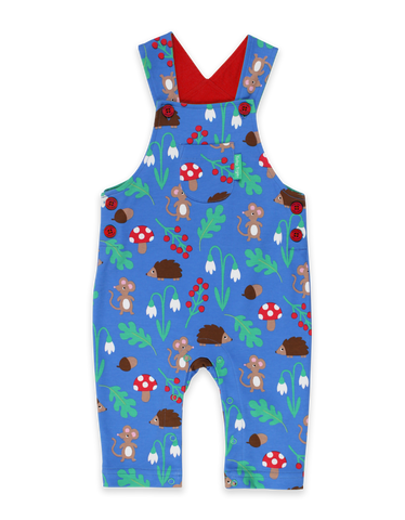 Toby Tiger Organic Woodland print Dungarees