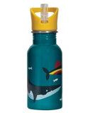 Splish Splash Steel Bottle - Rainbow Whale