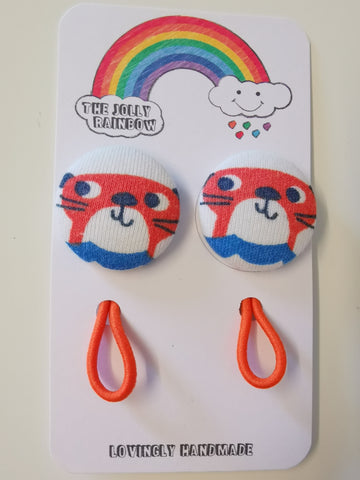 Jolly Rainbow Hair Bobbles - Frugi tiger
