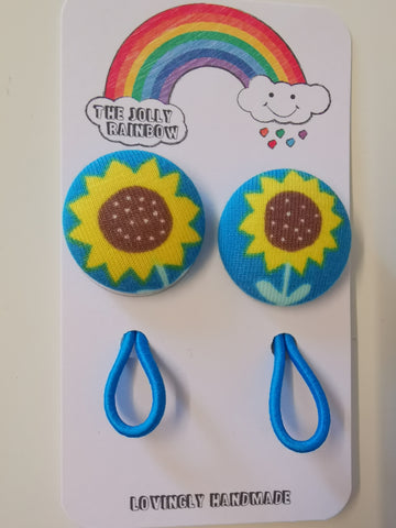 Jolly Rainbow Hair Bobbles - Frugi sunflower
