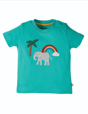 Frugi Applique T-shirt - Little Creature