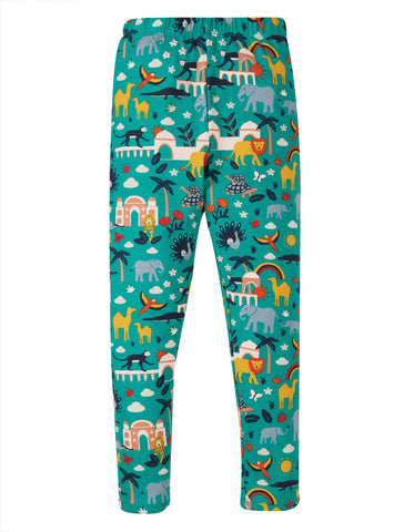 Frugi Libby Printed Leggings, Jewel India