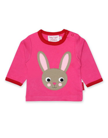 Toby Tiger Organic Rabbit Applique T-Shirt