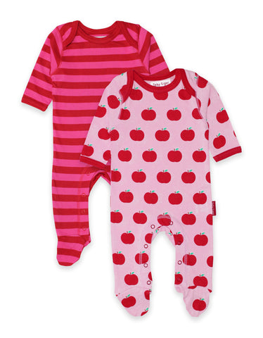 Toby Tiger Organic Apple 2-Pack Babygrow