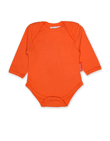 Toby Tiger Organic Orange Basic Babygro