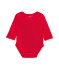 Toby Tiger Organic Red Basic Babygro