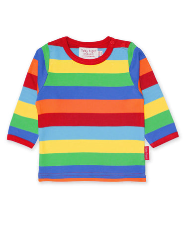 Toby Tiger Organic Multi Stripe T-Shirt