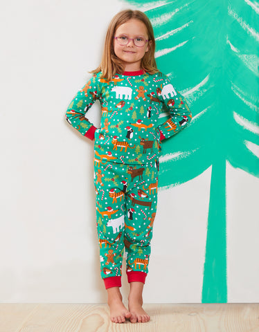 Emma's tt christmas pjs in 3-4y