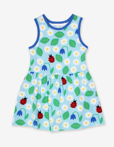 Toby Tiger Organic Garden print Summer Dress