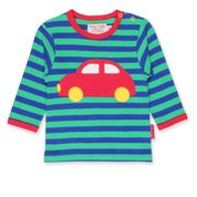 Toby Tiger Organic Red Car Applique T-Shirt