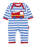 Toby Tiger Organic Fire Engine Applique Sleepsuit