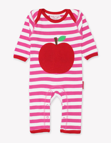 Toby Tiger Organic Apple Applique Sleepsuit