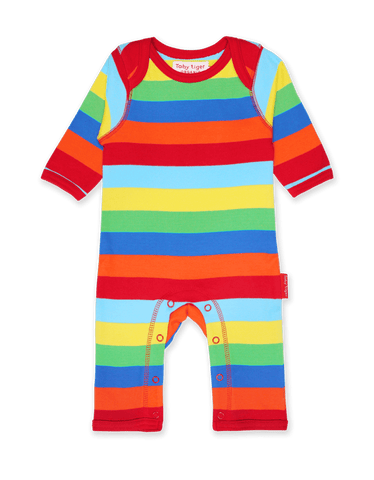 Toby Tiger Organic Multi Stripe Sleepsuit