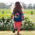Kite Stripy flower cardi
