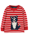 Frugi Easy on top - Tango red Bretton / Dog