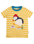 Frugi National Trust Sid Applique T-shirt - Puffin
