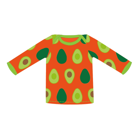 Pikolo Long Sleeved Tee - Orange Avo