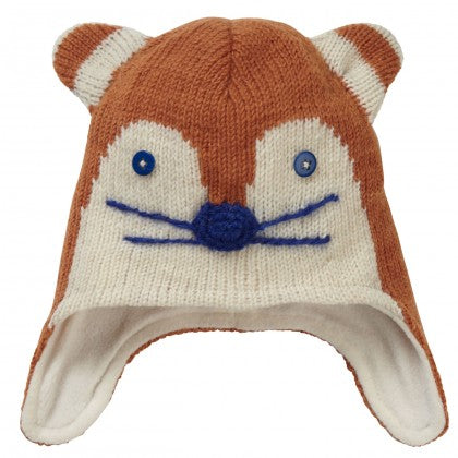 Piccalilly Ginger Fox Knit Hat