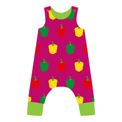 Pikolo Dungarees - Purple Pepper