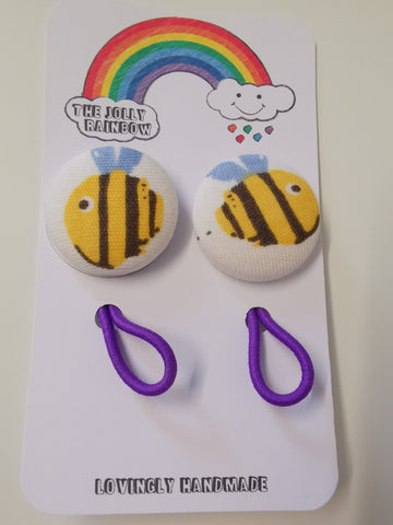 Jolly Rainbow Hair Bobbles - Frugi Bee