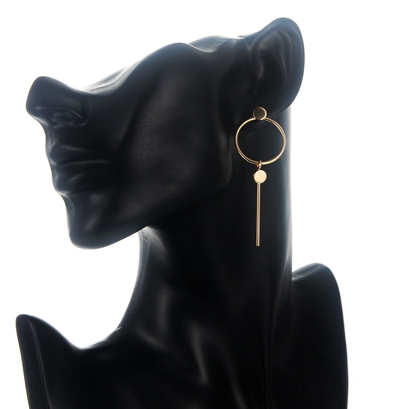 Lora Circle Stick Earrings