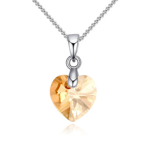 Lora Crystal Silver Necklace