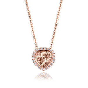Lora Rotating Heart Necklace (Medical)