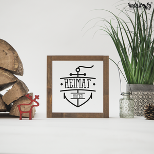 "Farmhouse Design Schild ""Heimathafen"""
