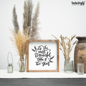 "Farmhouse Design Schild ""it´s the most wonderful time of the year"""
