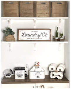 "Farmhouse Design Schild ""Laundry"""