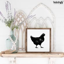 "Laden Sie das Bild in den Galerie-Viewer, Farmhouse Design Schild ""Chicken"""