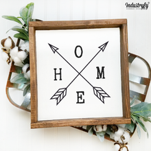 "Laden Sie das Bild in den Galerie-Viewer, Farmhouse Design Schild ""Home"""