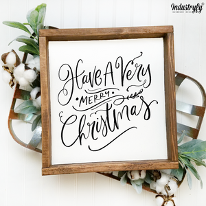 "Farmhouse Design Schild ""Have a very merry christmas"""
