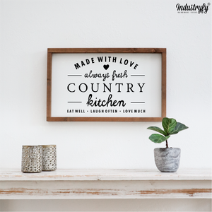 "Farmhouse Design Schild ""Country Kitchen"""