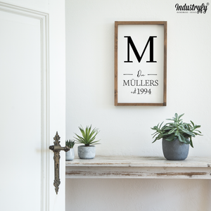 "Personalisierbares Farmhouse Design Schild ""Big Family"""