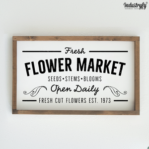 "Farmhouse Design Schild ""Fresh Flower Market"""