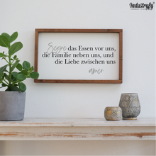 "Laden Sie das Bild in den Galerie-Viewer, Farmhouse Design Schild ""Segne das Essen"""