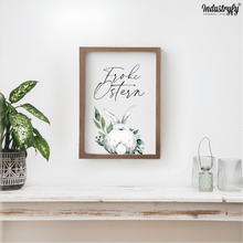 "Laden Sie das Bild in den Galerie-Viewer, Farmhouse Design Schild ""Frohe Ostern"""