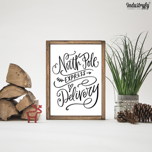 "Farmhouse Design Schild ""North Pole"""