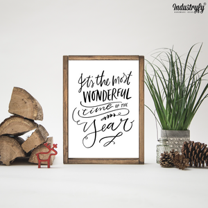 "Farmhouse Design Schild ""the most wonderful time"""